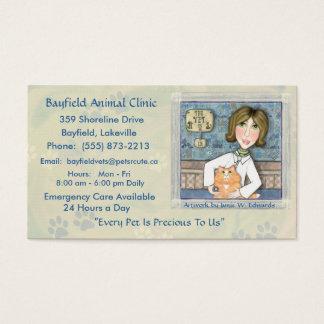 Veterinarian & Ginger Persian Cat Business Cards