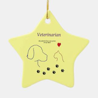 Veterinarian-Paw prints on my heart Christmas Ornament