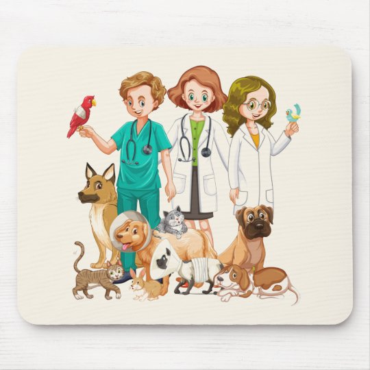 Veterinarian People Background Mouse Pad