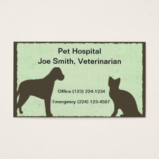 Veterinarian Pet Service Business Card