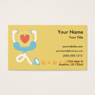 Veterinarian Stethoscope Business Card