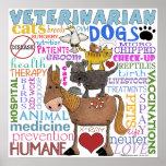 Veterinarian-Subway Art Vet Terms Poster