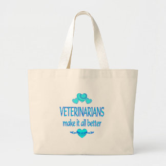 Veterinarians Make it Better Large Tote Bag