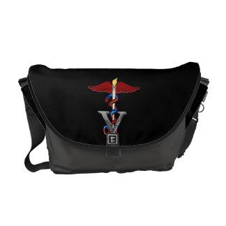 Veterinary Caduceus Courier Bag