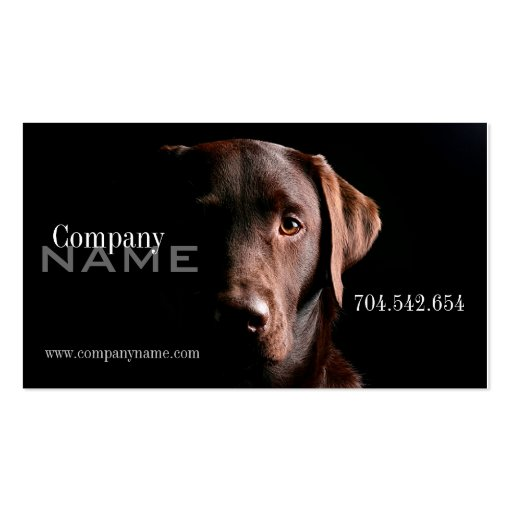 Veterinary Dog Doggy Business Card Template