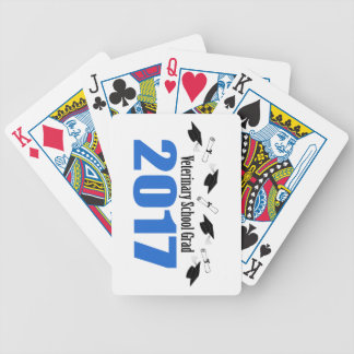 Veterinary Grad 2017 Caps And Diplomas (Blue) Bicycle Playing Cards