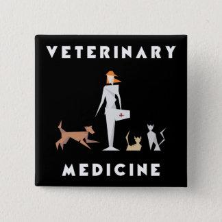 Veterinary Medicine Geometric Woman 15 Cm Square Badge