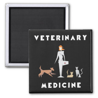Veterinary Medicine Geometric Woman Magnet