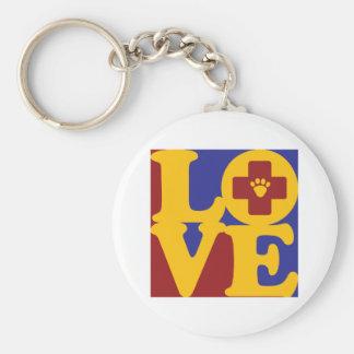 Veterinary Medicine Love Key Ring