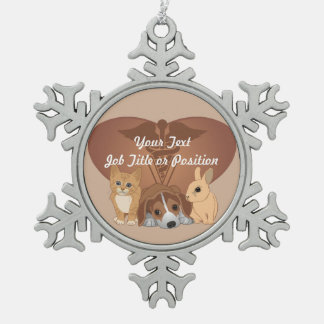 Veterinary Medicine Professional Pewter Snowflake Decoration
