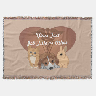 Veterinary Medicine Professional Throw Blanket