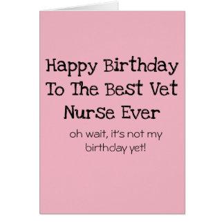 Veterinary Nurse Birthday Card