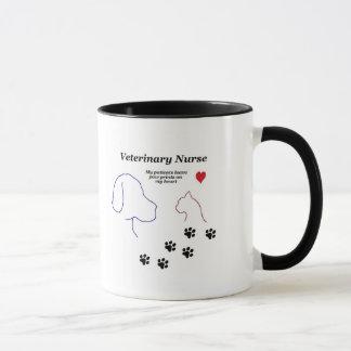 Veterinary Nurse-Paw Prints on My Heart