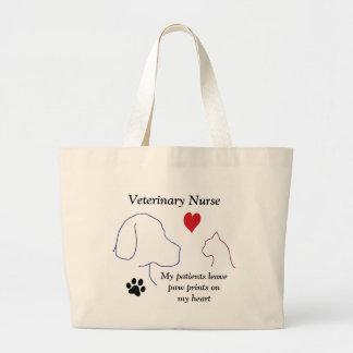 Veterinary Nurse - Paw Prints on My Heart #2 Jumbo Tote Bag