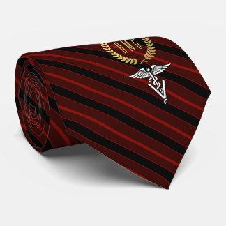 Veterinary Professional Monogrammed Red Tie