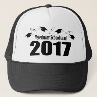 Veterinary School Grad 2017 Caps & Diplomas (Black
