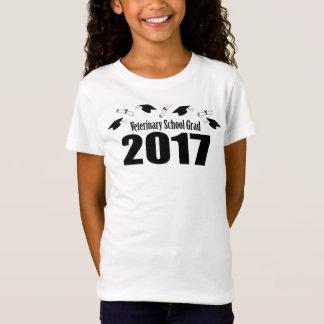Veterinary School Grad 2017 Caps & Diplomas (Black T-Shirt