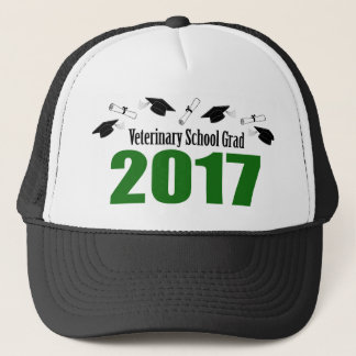 Veterinary School Grad 2017 Caps & Diplomas (Green