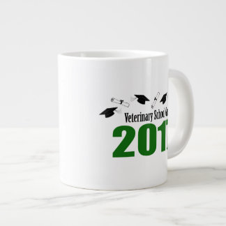 Veterinary School Grad 2017 Caps & Diplomas (Green Giant Coffee Mug