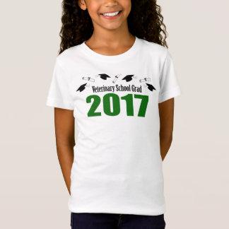 Veterinary School Grad 2017 Caps & Diplomas (Green T-Shirt