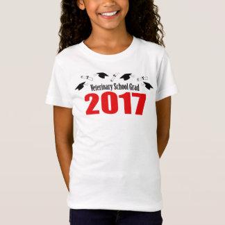Veterinary School Grad 2017 Caps & Diplomas (Red) T-Shirt