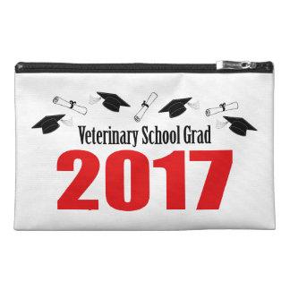 Veterinary School Grad 2017 Caps & Diplomas (Red) Travel Accessory Bag