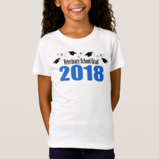 Veterinary School Grad 2018 Caps & Diplomas (Blue) T-Shirt