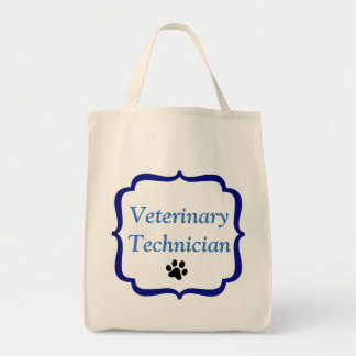 Veterinary Technician-Blue Bracket-Black Paw Print