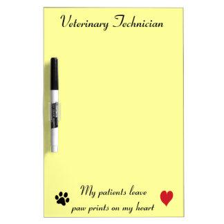 Veterinary Technician - Paw Prints on My Heart #2 Dry Erase Board