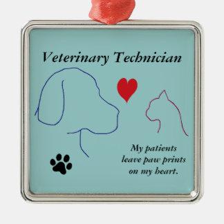 Veterinary Technician - Paw Prints on My Heart #2 Metal Ornament
