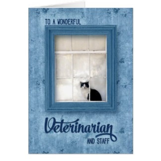 Veterinary Thank You  Cat on a Window Sill Card