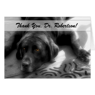 Veterinary Thank You from the Dog Labrador Card