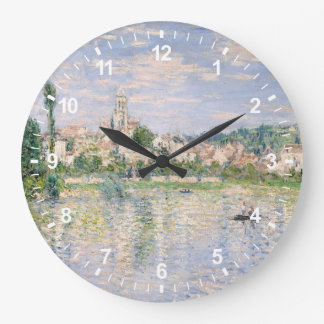 Vétheuil in Summer Large Clock