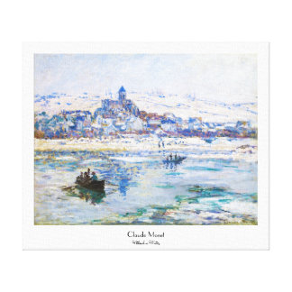 Vetheuil in Winter Claude Monet Canvas Print