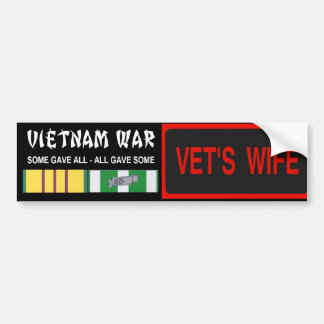 VETS WIFE STICKER BUMPER STICKER