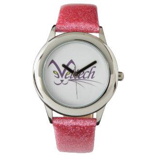 Vettech pink glitter watch