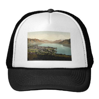 Vevey and Dent du Midi Geneva Lake Switzerland Mesh Hats