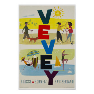 Vevey,Switzerland,Travel Poster