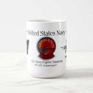 VF-101 'Grimreaper'  - F-14 Tomcat Sq. Coffee Mug