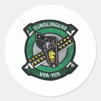 vfa-105 squadron patch classic round sticker