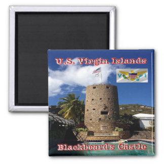 VI-Virgin Islands-Charlotte Amalie-Blackbeard's Square Magnet