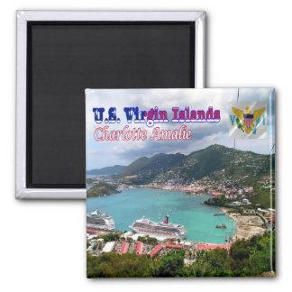 VI-Virgin Islands-Charlotte Amalie-St. Thomas Harb Square Magnet