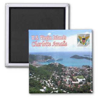 VI-Virgin Islands-Charlotte Amalie - St. Thomas Square Magnet