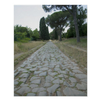 Via Appia  Appian way, roman roadway Poster