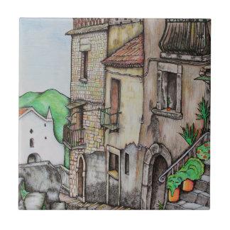 Via Costarella and Monastery Ceramic Tile