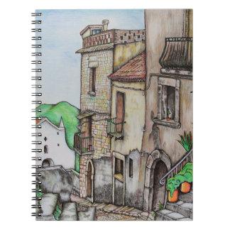 Via Costarella and Monastery Spiral Notebook