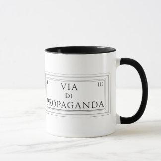 Via di Propaganda, Rome Street Sign Mug