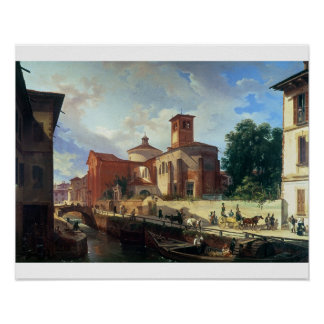 Via Fatabene Fratelli, Milan, 1830 Posters