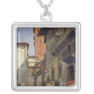 Via Mazzanti, Verona, 1880 Silver Plated Necklace