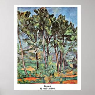 Viaduct By Paul Cezanne Print